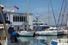 Meg in Ocean Village Marina Gibraltar