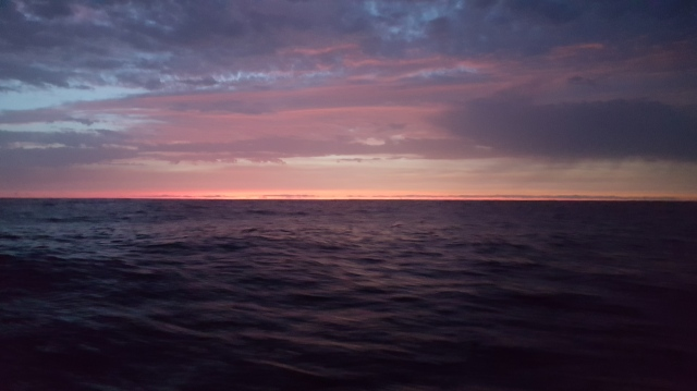 Thank you for the sunsets and sunrises - this is a beautiful thing when deep sea - uninterupted