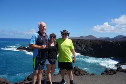 The crew exploring Lanzarote